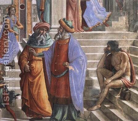Presentation of the Virgin at the Temple (detail) 3 by Domenico Ghirlandaio - Reproduction Oil Painting