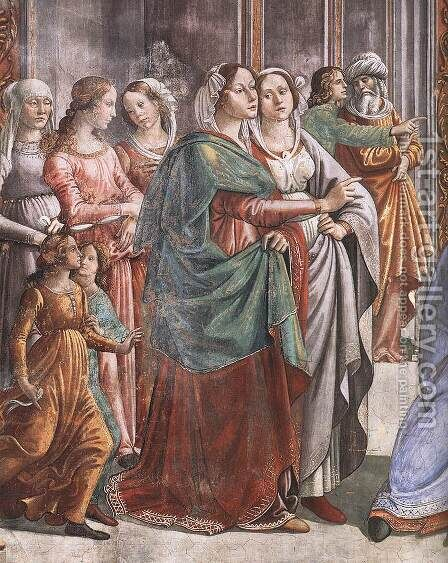 Marriage of Mary (detail) by Domenico Ghirlandaio - Reproduction Oil Painting