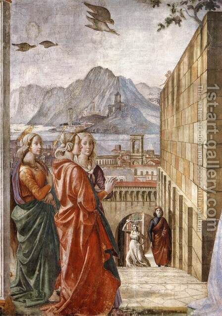 Visitation (detail) 2 by Domenico Ghirlandaio - Reproduction Oil Painting