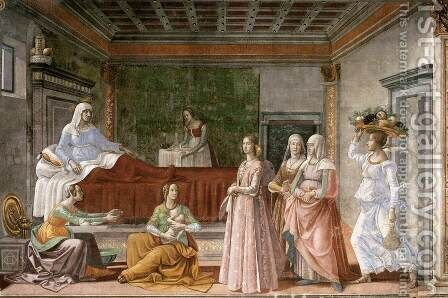 Birth of St John the Baptist 2 by Domenico Ghirlandaio - Reproduction Oil Painting