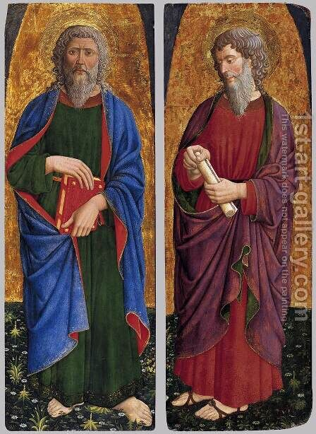 St Philip; St Paul by Giovanni Da Rimini - Reproduction Oil Painting