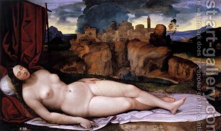 Sleeping Venus by da Treviso II (Girolamo Pennacchi) Girolamo - Reproduction Oil Painting