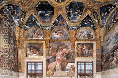 View of the Sala di Psyche (west wall) by Giulio Romano (Orbetto) - Reproduction Oil Painting