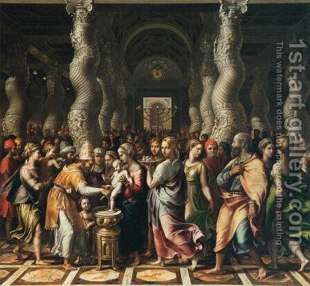 The Circumcision by Giulio Romano (Orbetto) - Reproduction Oil Painting