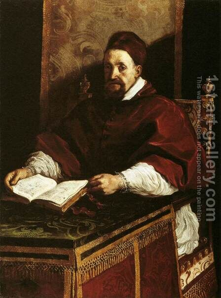 Portrait of Paul Gregory XV by Guercino - Reproduction Oil Painting