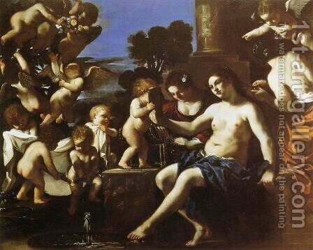 The Toilet of Venus by Guercino - Reproduction Oil Painting