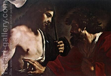 Doubting Thomas by Guercino - Reproduction Oil Painting