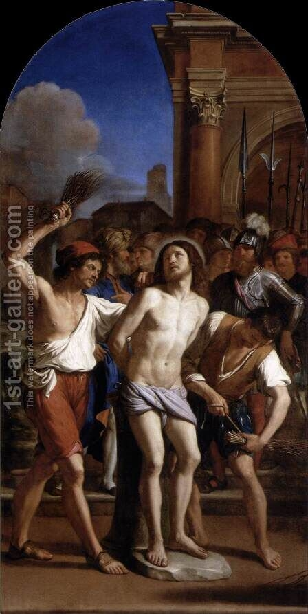 The Flagellation of Christ by Guercino - Reproduction Oil Painting