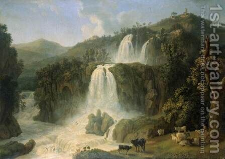 Great Cascades at Tivoli by Jacob Philipp Hackert - Reproduction Oil Painting