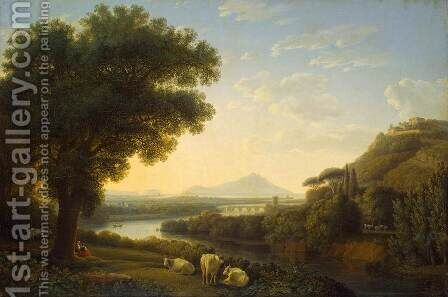 Italian Landscape by Jacob Philipp Hackert - Reproduction Oil Painting