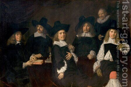 Regents of the Old Men's Almshouse by Frans Hals - Reproduction Oil Painting