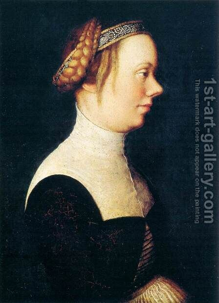 Portrait of a Woman by Hans, The Elder Holbein - Reproduction Oil Painting