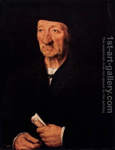 Portrait of an Old Man by Hans, the Younger Holbein - Reproduction Oil Painting