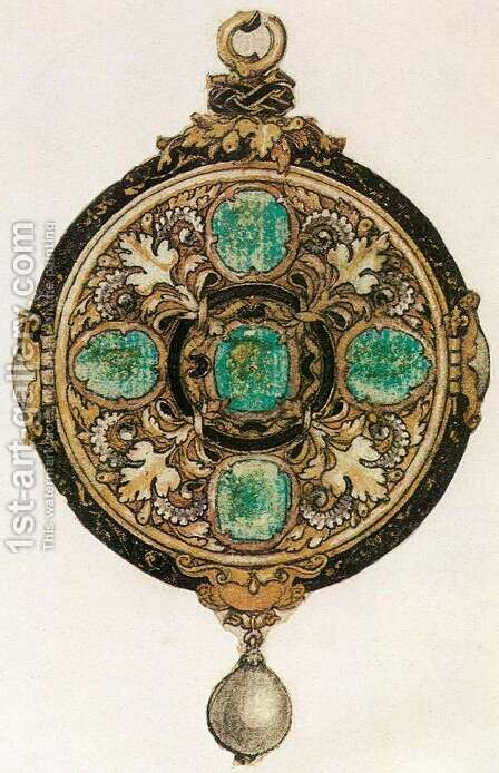 Design for a Pendant by Hans, the Younger Holbein - Reproduction Oil Painting