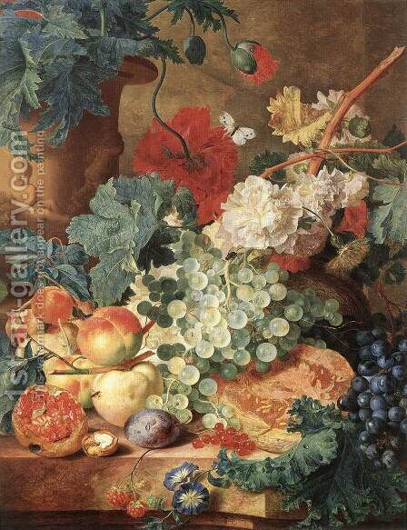 Fruit Still-Life by Jan Van Huysum - Reproduction Oil Painting