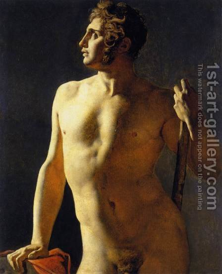 Study of a Male Nude 2 by Jean Auguste Dominique Ingres - Reproduction Oil Painting