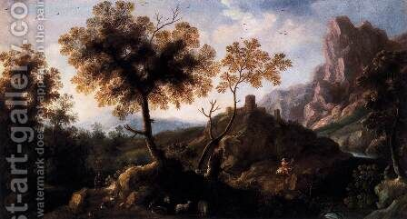Landscape with Shepherds by Ignacio de Iriarte - Reproduction Oil Painting