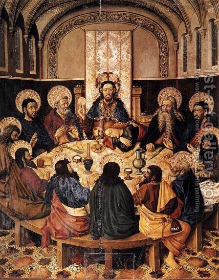 The Last Supper by Jaume Baco Jacomart - Reproduction Oil Painting