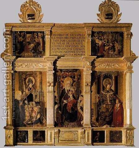 Retable of St Anne by Jaume Baco Jacomart - Reproduction Oil Painting