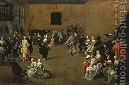 The Ball 2 by Hieronymus Janssens - Reproduction Oil Painting