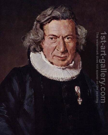 Portrait of Dr. A. G. Rudelbach by Christian-Albrecht Jensen - Reproduction Oil Painting
