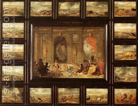 The Continent of Africa by Jan van Kessel - Reproduction Oil Painting
