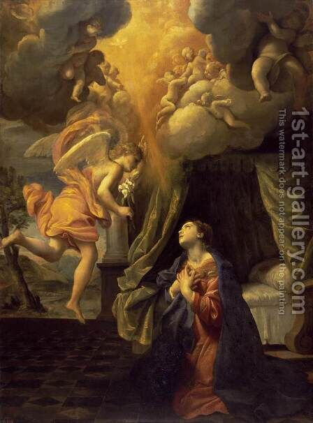 The Annunciation 2 by Giovanni Lanfranco - Reproduction Oil Painting