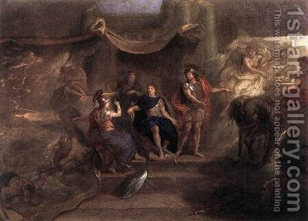 The Resolution of Louis XIV to Make War on the Dutch Republic 2 by Charles Le Brun - Reproduction Oil Painting