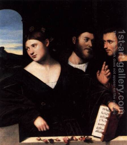 Allegory of Love by Bernardino Licinio - Reproduction Oil Painting