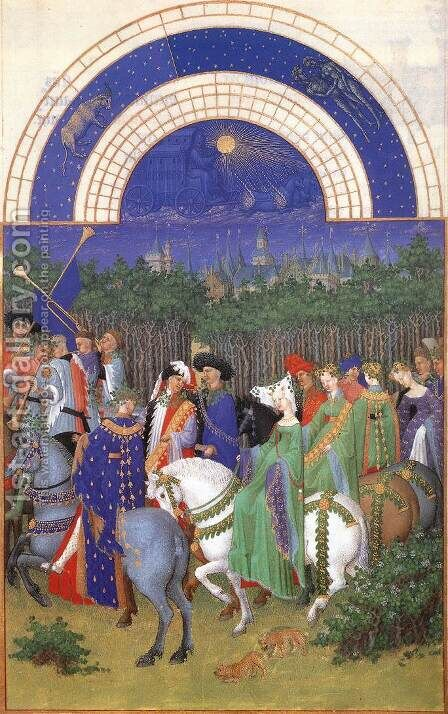 Les tres riches heures du Duc de Berry Mai (May) by Harry J. Pearson - Reproduction Oil Painting