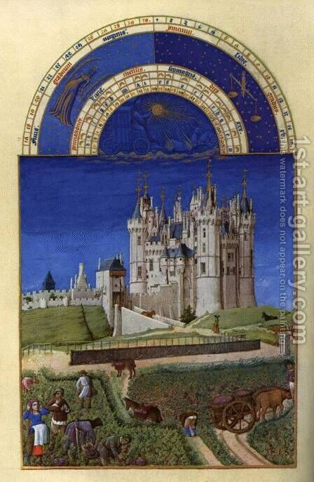 Les tres riches heures du Duc de Berry Septembre (September) by Harry J. Pearson - Reproduction Oil Painting