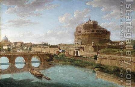 Rome A View of the Tiber 2 by Hendrik Frans Van Lint - Reproduction Oil Painting