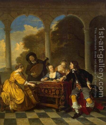 Concert by Jacob van Loo - Reproduction Oil Painting