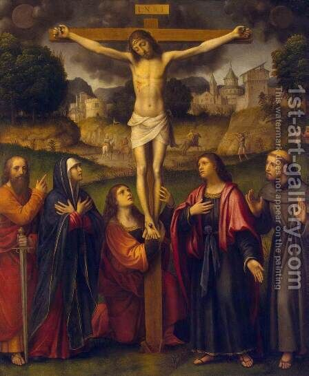 Crucifixion by Bernardino Luini - Reproduction Oil Painting