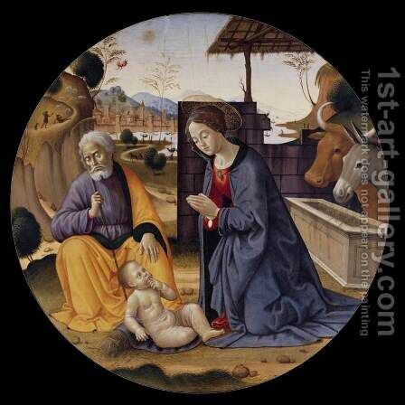 Adoration of the Child by Bastiano Mainardi - Reproduction Oil Painting