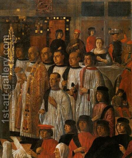 Miracle of the Relic of the Holy Cross in Campo San Lio (detail) by Giovanni Mansueti - Reproduction Oil Painting