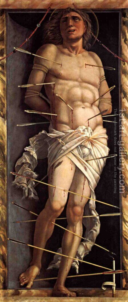 St Sebastian by Andrea Mantegna - Reproduction Oil Painting