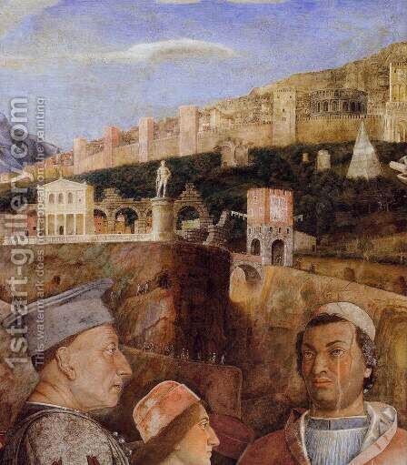 The Meeting (detail) 2 by Andrea Mantegna - Reproduction Oil Painting