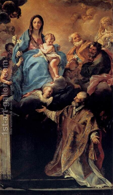 The Virgin Appearing to St Philip Neri by Carlo Maratti - Reproduction Oil Painting