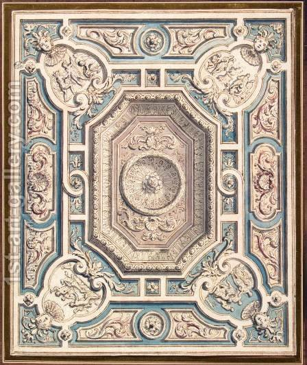 Design for a Ceiling by Daniel the Elder Marot - Reproduction Oil Painting