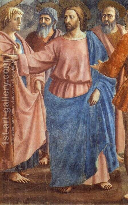Tribute Money (detail) by Masaccio (Tommaso di Giovanni) - Reproduction Oil Painting