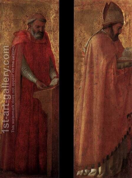 Two panels from the Pisa Altarpiece by Masaccio (Tommaso di Giovanni) - Reproduction Oil Painting