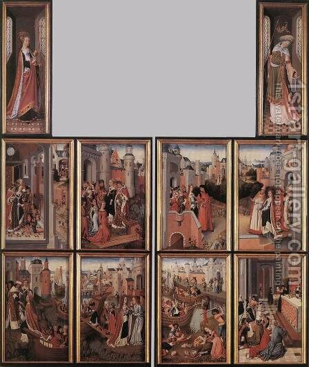Legend of St Ursula, the Church and the Synagogue by Master of the Legend of St. Ursula - Reproduction Oil Painting