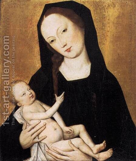 Virgin and Child by Master of the Life of the Virgin - Reproduction Oil Painting