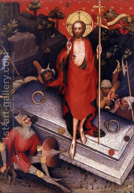 The Resurrection by Master of the Trebon Altarpiece - Reproduction Oil Painting