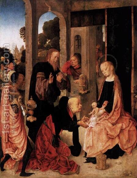 Adoration of the Magi by Master of the Virgo inter Virgines - Reproduction Oil Painting