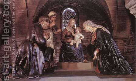 Adoration of the Child by Guido Mazzoni - Reproduction Oil Painting
