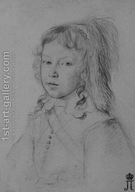 Portrait of Louis XIV as a Child by Claude Mellan - Reproduction Oil Painting