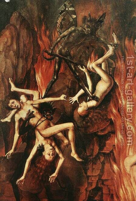 Last Judgment Triptych (detail) 4 by Hans Memling - Reproduction Oil Painting