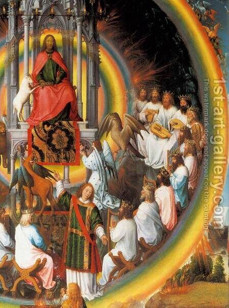 St John Altarpiece (detail) 4 by Hans Memling - Reproduction Oil Painting